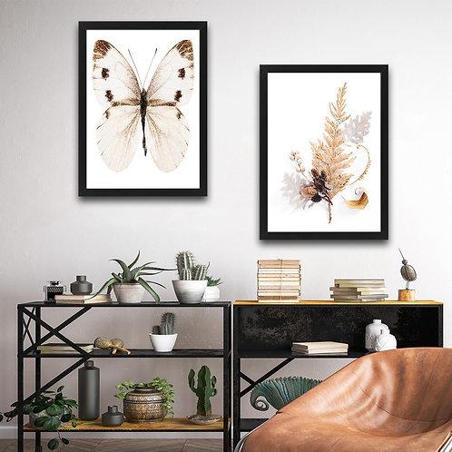 Beige Butterfly Set