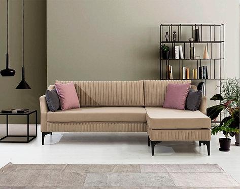 Lee Corner Sofa - Black Legs