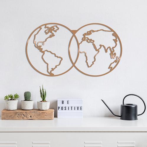 World Map - Copper