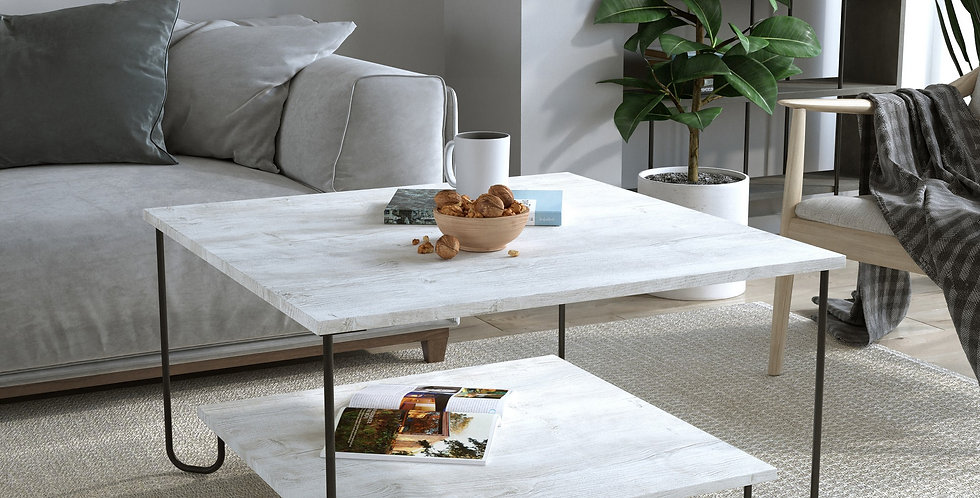 Marbo Coffee Table - Antique White