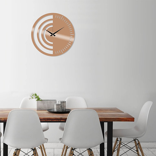 Metal Wall Clock 8 - Copper