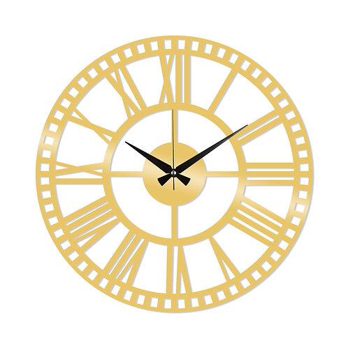 Metal Wall Clock 10 - Gold