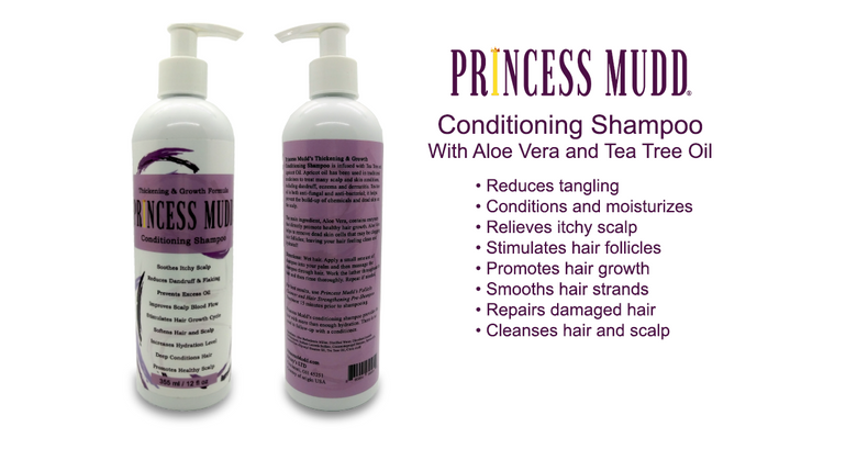 Conditioning Shampoo w/ Aloe Vera and Tea Tree Oil | Reduce Tangling, Condition and Moisturize, Relieve Itchy Scalp, Stimulate Hair Follicles, Promote Hair Growth, Smooth Frizzy Hair, Repair Damaged Hair, Cleanse Hair and Scalp