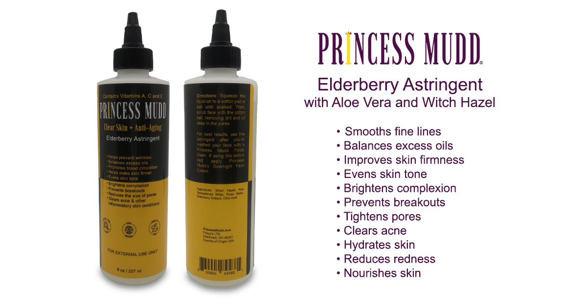 Elderberry Astringent with Aloe Vera and Witch Hazel | Smoothes fine lines, Balances excess oils, improves skin firmness, evens skin tone, prevent breakouts, tighten pores, clear acne, hydrate skin, nourishes skin