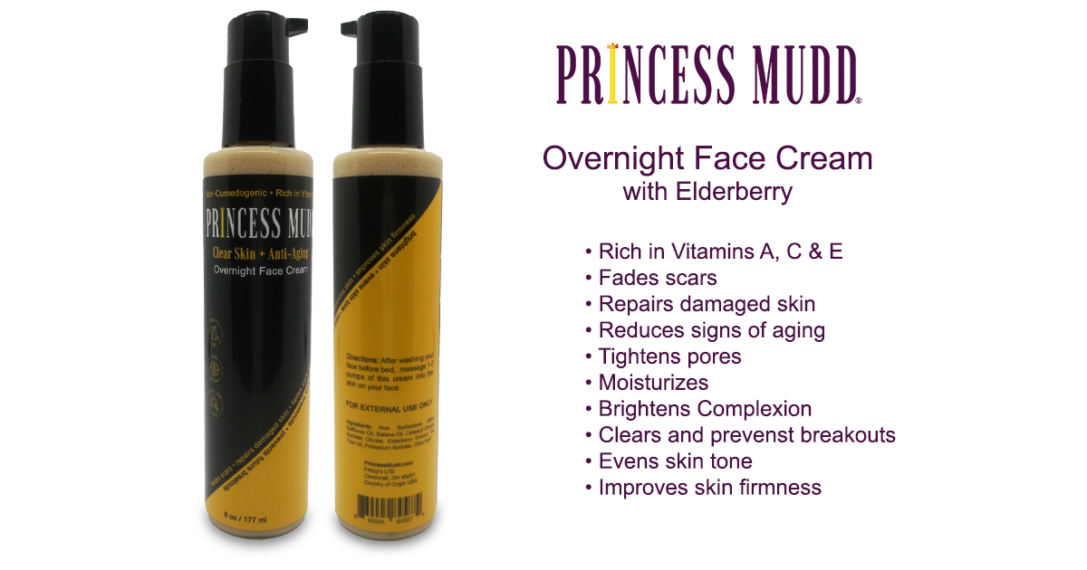Overnight Elderberry Face Cream | Fades scars, Repairs damaged skin, Reduces signs of aging, Moisturizes, Brightens Complexion, Clear and prevent breakouts, evens skin tone, improve skin firmness