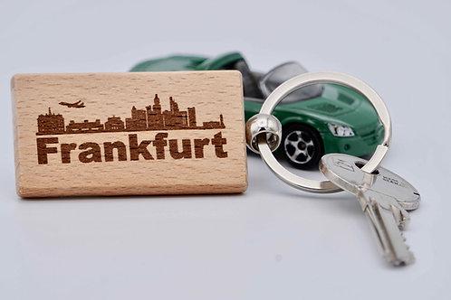 Schlüsselanhänger Holz eckig