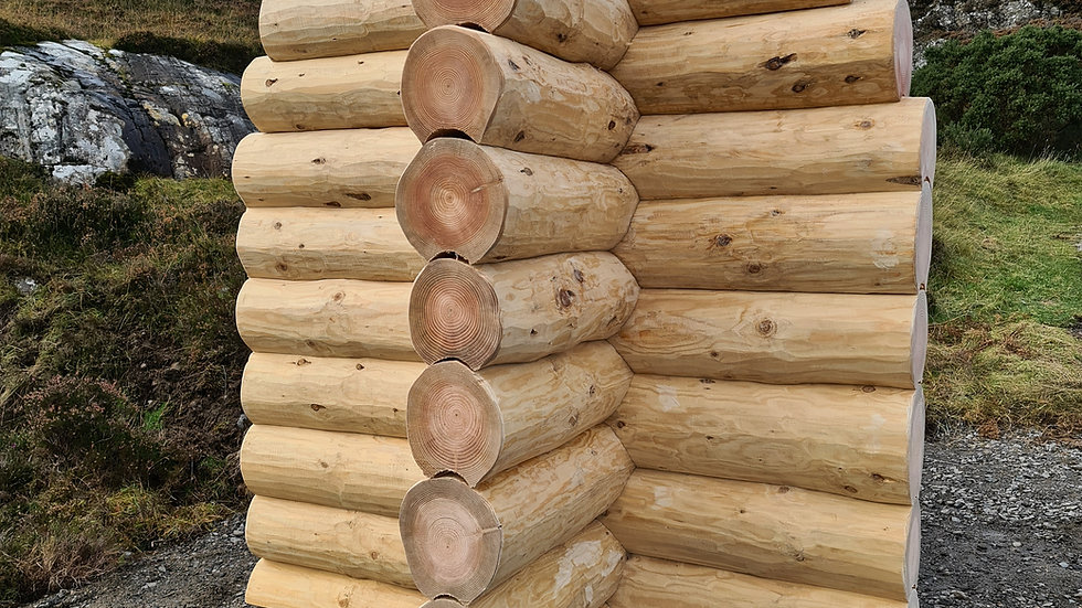 1m2 wall price for log cabins 25cm diameter average