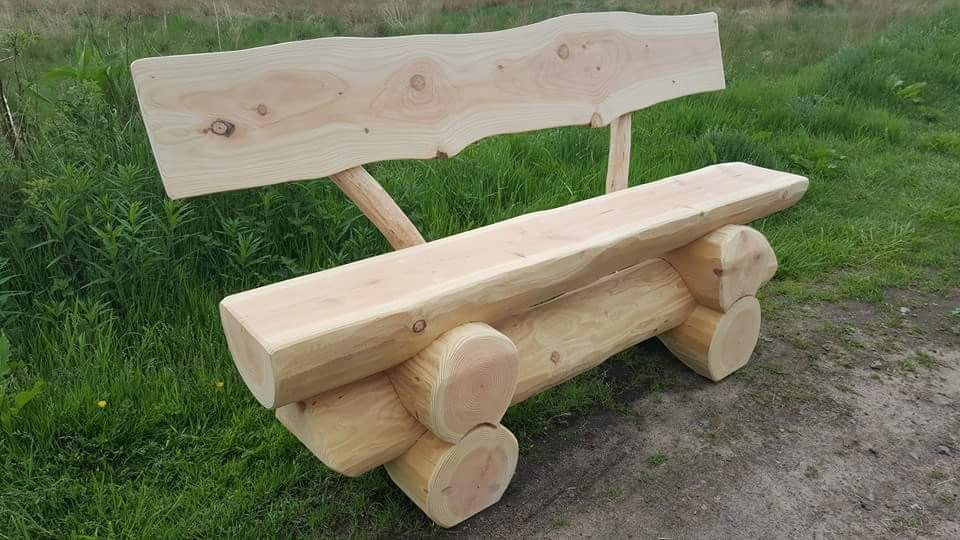 Wild bench with back rest 5ft long
