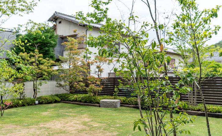 左京区の庭