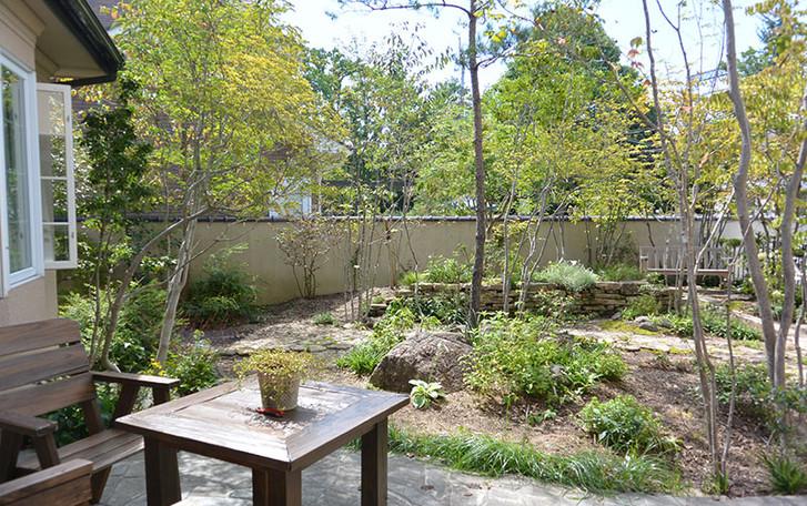 学園北の庭