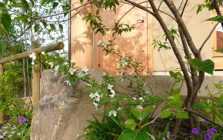 千里園の庭