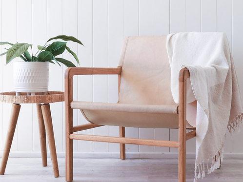 Kingston Blush leather sling chair