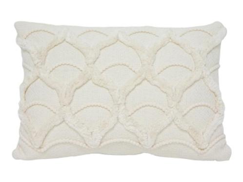 Petal embroided cushion