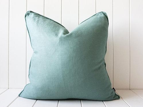 Linen cushion - Sage 50 x 50
