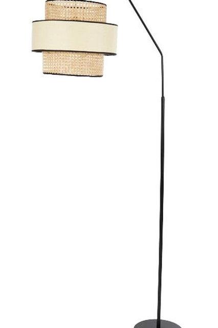 Korora rattan & black floor lamp - Pre Order for April