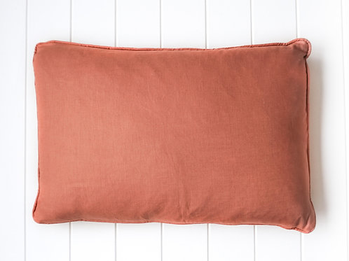 Linen cushion - Rust 60 x 40