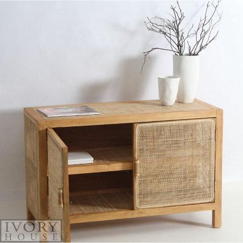 Ivory rattan side board