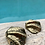 Thumbnail: Brass clam- Horizontal grooves 18 or 23cm