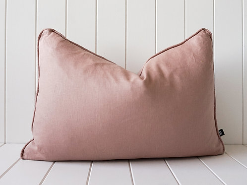 Linen cushion - Dusty Salmon 60 x 40