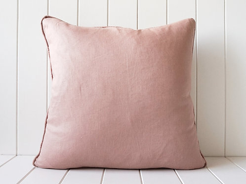 Linen cushion - Dusty Salmon 50 x 50