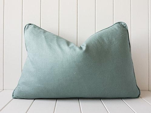 Linen cushion - Sage 60 x 40