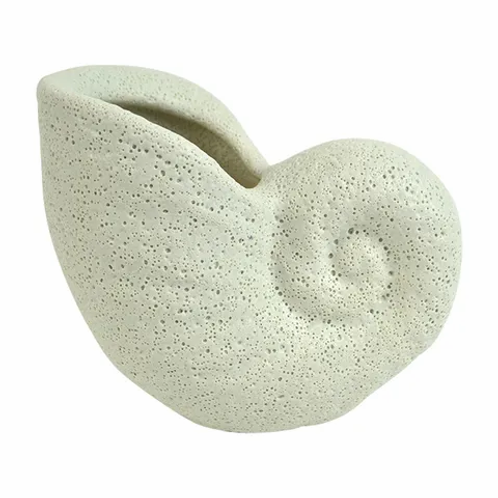 Nautilus ceramic shell planter