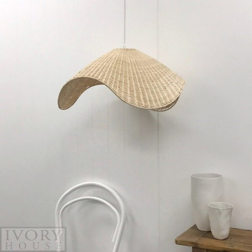 Wave rattan light shade - Natural