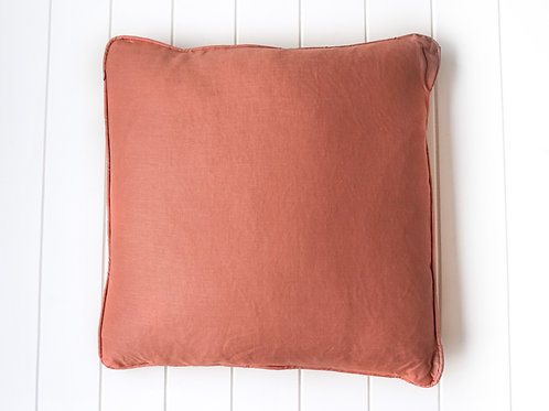 Linen cushion - Rust 50 x 50