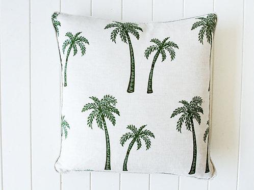 Oasis Palms Linen cushion