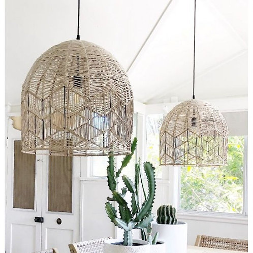 Kudu rattan pendant light shade - Natural