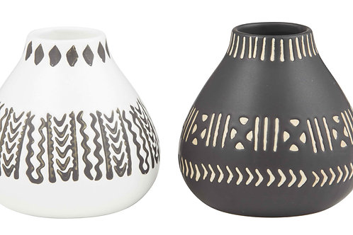 Tribal vases - Set of 2