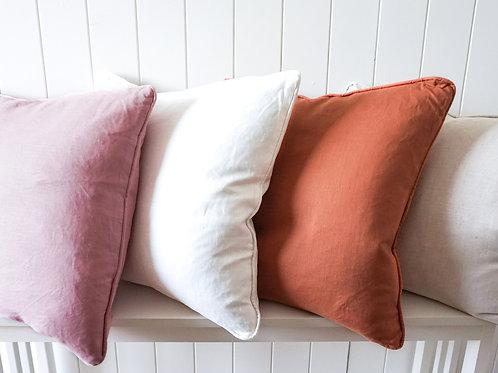 Linen cushion - Pink 50 x 50