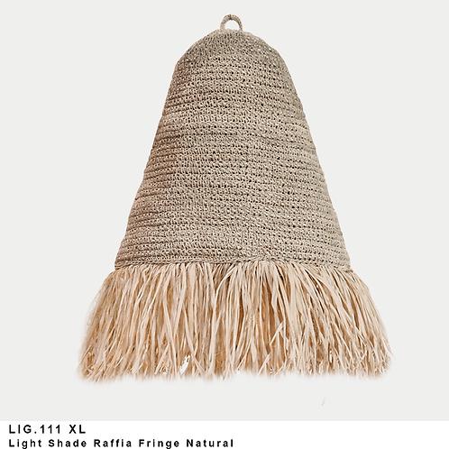 Raffia fringe light shade
