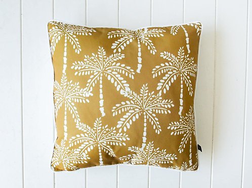 Mustard Palms outdoor cushion