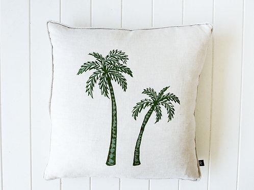 Linen Twin Palms cushion