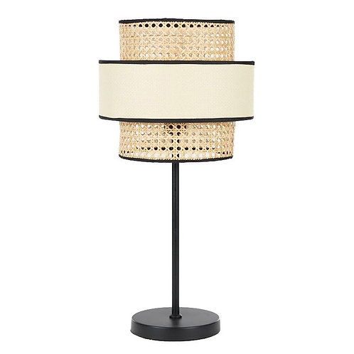 Korora Rattan & black table lamp - Pre Order for April