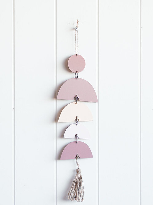Blush Rainbow wall hanging