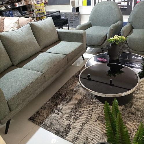 Grey sofa 3+1+1 seater