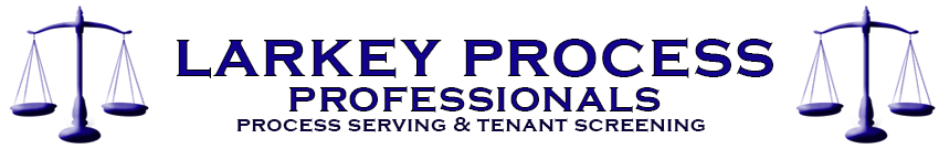 Larkey Process Profesionals Process Serving and Tenant Screening logo