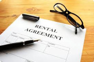 Rental agreement filled out for the purpose of tenant screening or background check