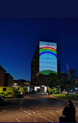 Rainbow for Nurses. Evenlode Films and Productions - The Tower Block Gloucester Hospital
