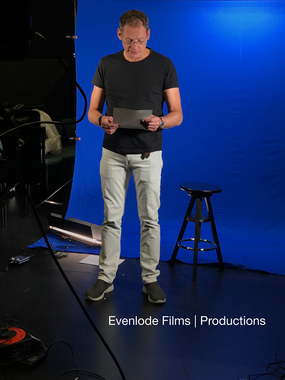 Mark Lester in the studio with Evenlode Films