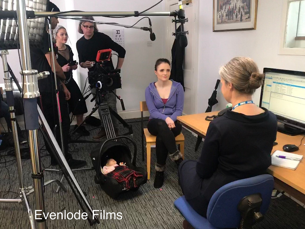 On set - Evenlode Films and Productions - Cast and Crew for three shorts