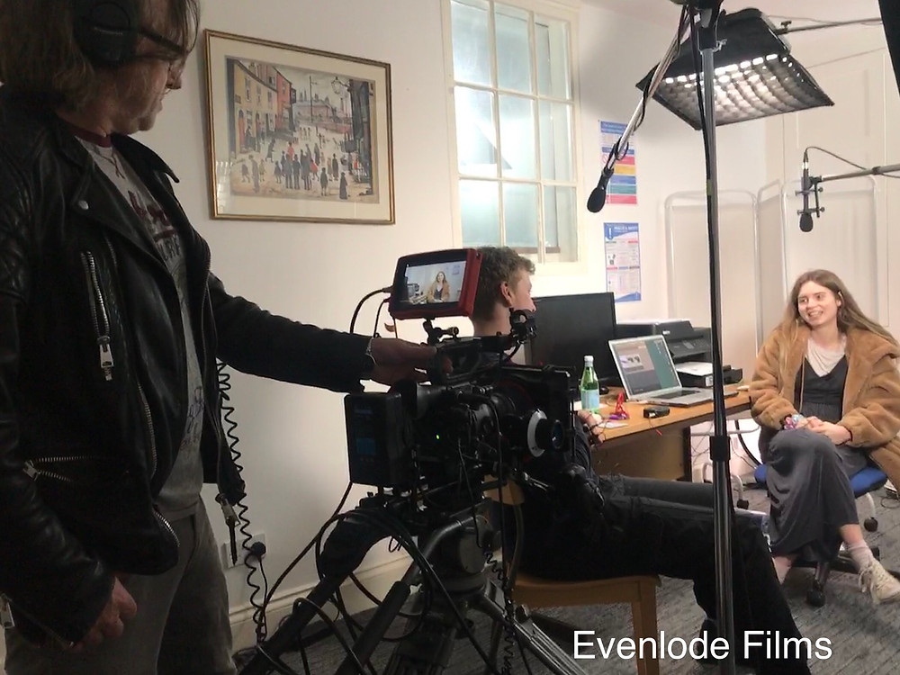 Evenlode Films and Production - In our Studios Cheltenham - On set -  3 Shorts for GDASS