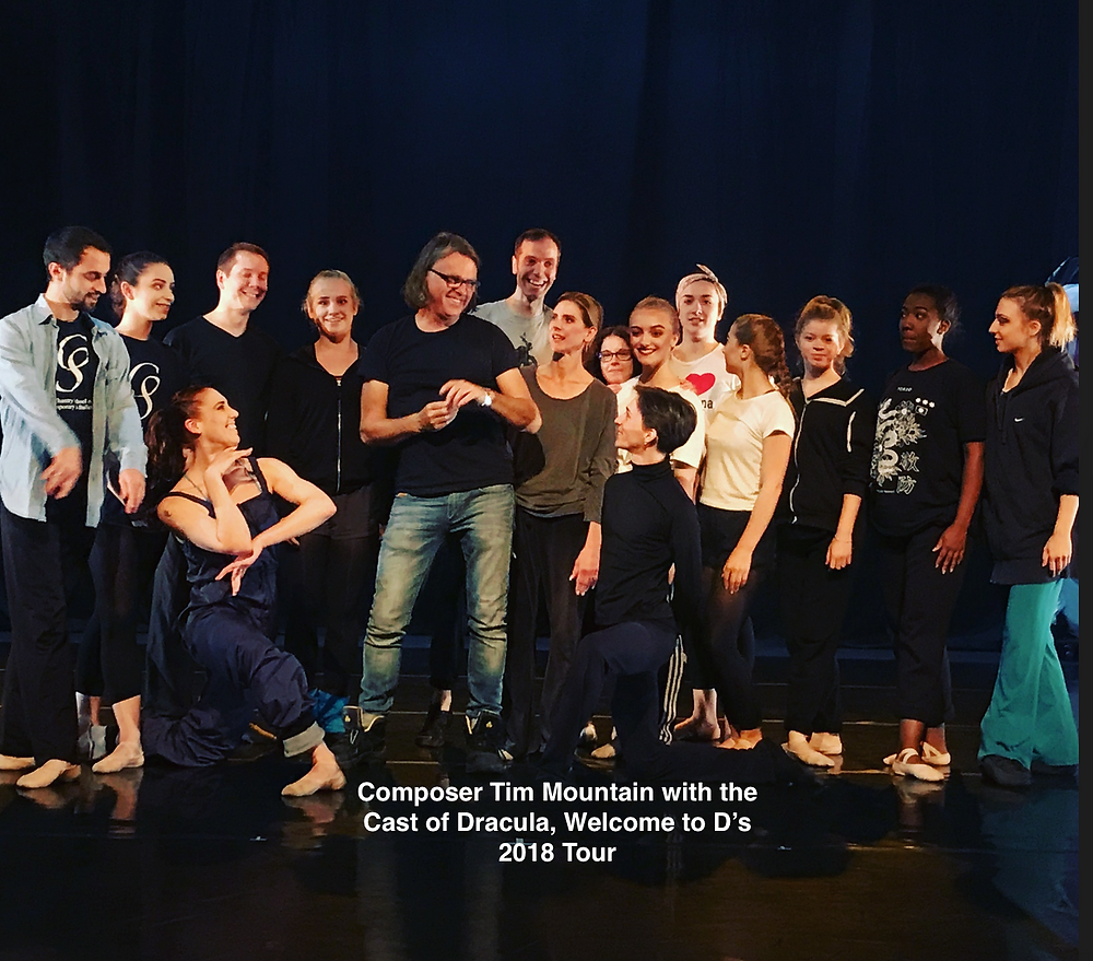 With the cast of his latest ballet, 'Dracula, Welcome to D's'