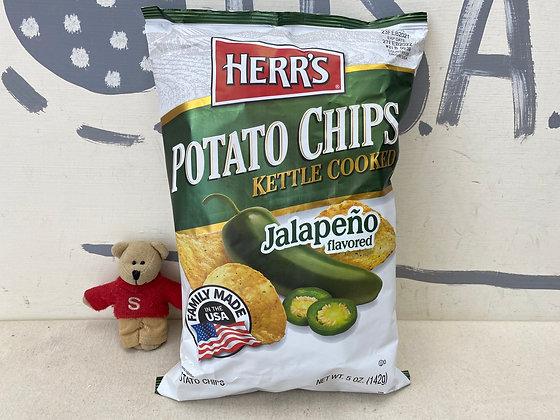 【Sunny Buy】Herr's Kettle Cooked Potato Chips /Jalapeno 5oz