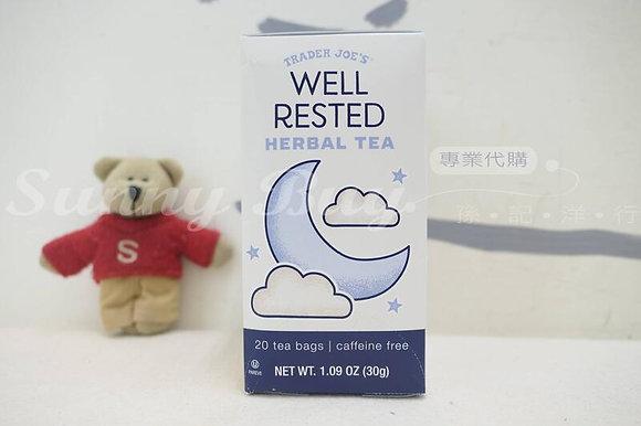 Sunny Buy】Trader Joe's Well Rested Herbal Tea 20 tea bags 1.09oz (#19802)