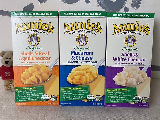 【Sunny Buy】 Annie's Organic Macaroni/Shells Pasta 6oz (3 Flavors)