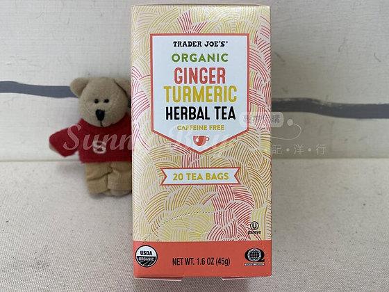 【Sunny Buy】 Trader Joe's Organic Ginger Turmeric Herbal Tea 1.6oz (#18382)