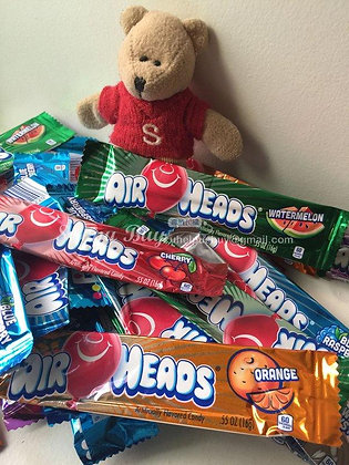 【Sunny Buy】Airheads Chewy Fruit Taffy Candy Bars 6 Bars (#4011)